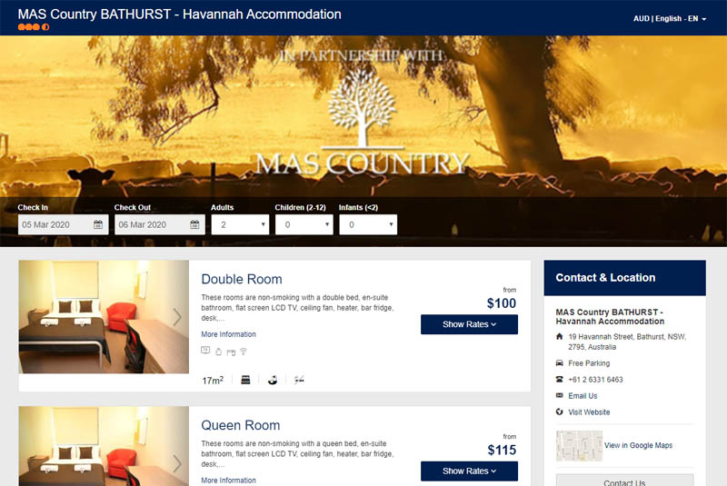 Book Accommodation online at Havannah Accommodation - Bathurst